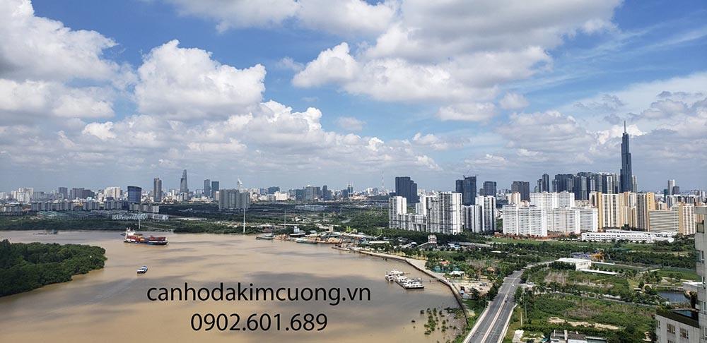 Penthouse Đảo Kim Cương sở hữu tầm view ngoạn mục bao trọn thành phố