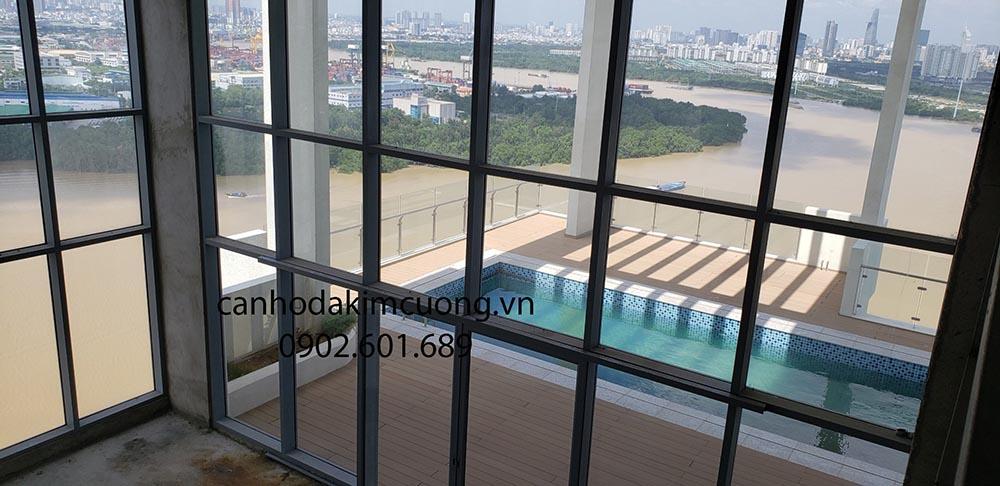 Penthouse Đảo Kim Cương đặc biệt với thiết kế diện tích lớn, có hồ bơi sân vườn riêng. Đảm bảo sự riêng tư tuyệt đối
