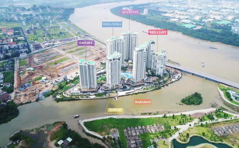 Dự án Đảo Kim Cương, Quận 2 - Với tiếp giáp 3 mặt sông, chỉ có 1 cổng ra vào, giúp Đảo Kim Cương trở nên riêng tư khác biệt các dự án khác